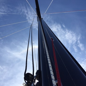 Keelboat masts